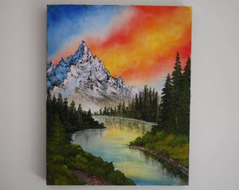 Peaceful Reflections - Bob Ross Inspired Landscape Painting