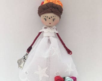 Doll Brooch Frida Kahlo Jewelry