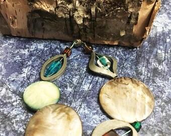 Bohemian bracelet, magnetic clasp, hippie