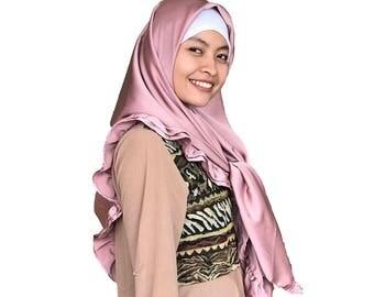 Pink Square Casual Hijab