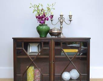 Victorian Table Top Display Cupboard, Antique Curio Cabinet, Small Cabinet, Antique Display Cabinet, Mahogany Display Case, Vintage Cupboard