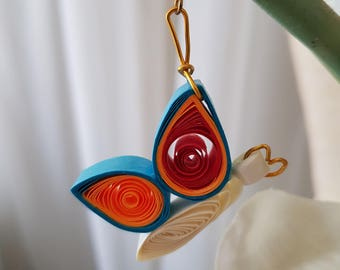 Handcrafted Quilled Butterfly earrings