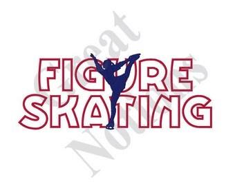 Figure Skating - Machine Embroidery Design