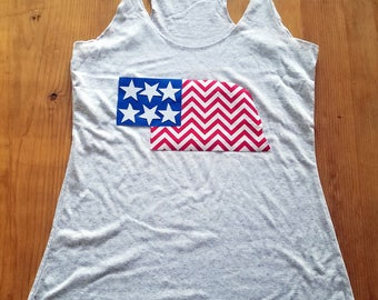 Appliqué US Flag State Shape ~ Customizable for your state!