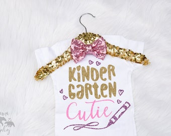 Kindergarten Cutie Shirt - Kindergarten Shirt - Toddler Kinder Shirt - Toddler Kindergarten T Shirt- Toddler School Shirt