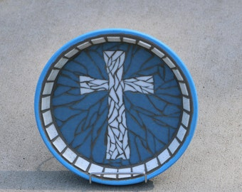 Boys Baptism / First Communion Gift /  Baptism Gift for Boys / Christian Gift / Mosaic Cross / Gifts for Baptism