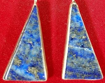 Lapis Lazuli Earrings Deep Blue