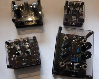 BUNDLE: All the little boxes (Vactrol LPG, digital echo, dual square wave oscillator and dual CMOS filter)