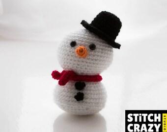 Crochet Snowman, Crochet Christmas Decor, Christmas Gift, Amigurumi, Festive Gift, Festive Decor, Xmas Decor, Christmas Ornament