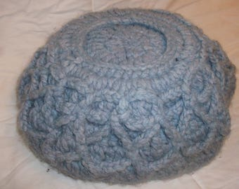 Crocheted bowl, Large (upside down to show detail)