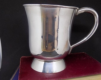 Silver Plated Beer Tankard Mug Pint