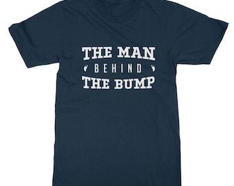 Mens The Man Behind The Bump T-Shirt Pregnancy Annoucement