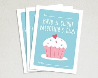 Personalized Valentines Card - School valentines - Cute valentines - Kids valentine cards - Valentine card sets - Sweet Valentines
