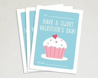 Personalized Valentines Card - School valentines - Cute valentines - Kids valentine cards - Valentine card sets - Sweet Valentines