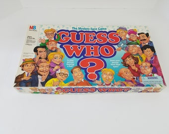 1996 Guess Who? Milton Bradley | The Mystery Face Board Game | Vintage 1990s 90s Games | Retro Gift