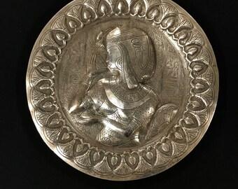 950 Silver Egyptian Plaque