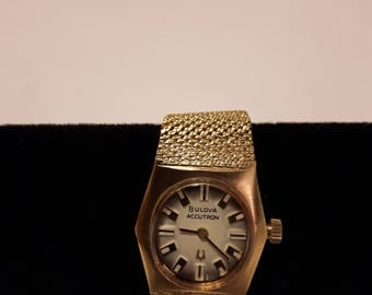 Vintage Bulova Accutron 10k Gold Filled Watch - 1970s