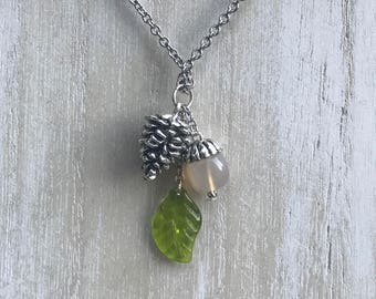 Pinecone Necklace || Fall Necklace || Autumn Necklace || Nature Necklace
