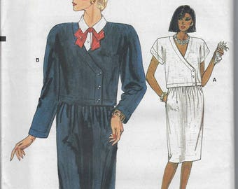Vintage Very Easy Very Vogue Sewing Pattern 9340  Petite Top Skirt Size 12 14 16  Uncut Factory Folded