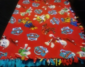 Paw patrol tie blanket
