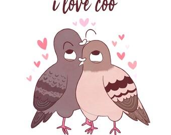 Card: I love coo!