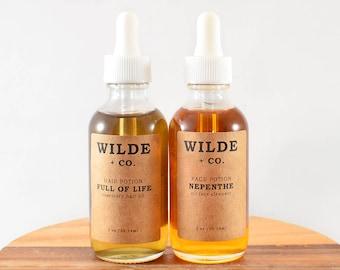 Oil gift set, organic oil set, organic face cleanser, organic hair oil, hair oil, oil face wash, oil face cleanser, castor oil, black castor