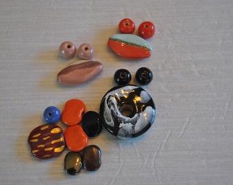 African Kazuri ceramic beads, handcrafted, destash, ,matching sets, fair trade