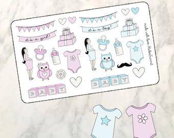 Baby Shower Pregnancy Planner Stickers