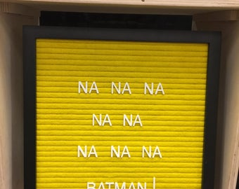"""12"""" x12"""" Yellow Letter Board with Letters"""