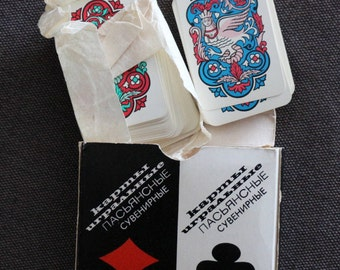 Playing cards souvenir solitairePlaying cards, cards solitaire, playing cards USSR, poker cards, vintage poker card, game preference, games