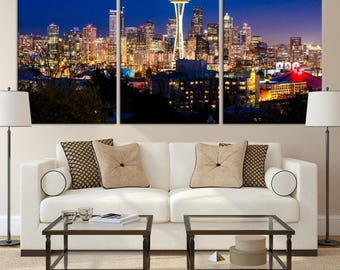 Seattle Wall Art seattle skyline art print seattle skyline illustration