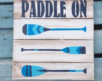 Paddle Art, Paddle board wood art, Beach art, Coastal Decor, Ocean art, Coastal patio art