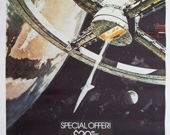 """Movie poster """"2001 : a space odyssey""""- video release"""