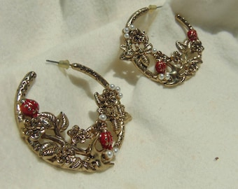 Ladybugs, Birds, Bee's, Hoop Earrings, Shipped Free