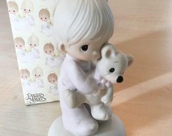 Vintage Precious MomentsJesus Loves Me Figurine E-1372/B