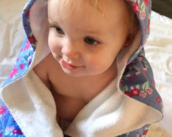 Hooded Baby Towel - Bamboo Terry - Lilah