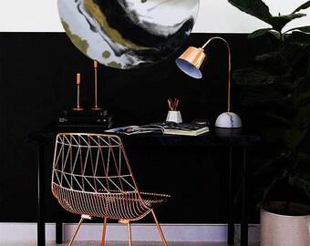 modern, gold, black and white resin 60cm wall art home decor
