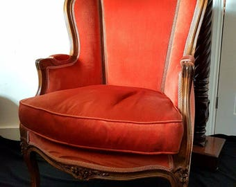 Original Antique 19th Century French Fauteuil Chair in Beech