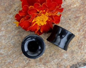 Black Jade hollow spacers - 19 mm (XOCHISTLAHUACA lot)