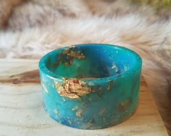 Turquoise Blue Resin Bangle