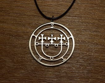Sceal Sigil of Sitri Necklace Satan Necklace Lesser Key demon seal pendant  Goetia necklace Lemegeton jewelry Seal Lucifer sigil of demons