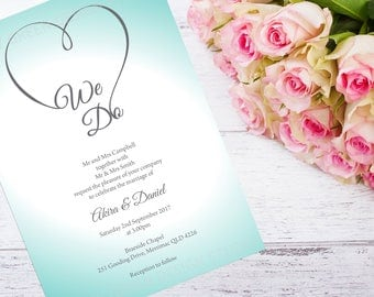 Wedding Invitation Template Set | Wedding Invitation | Details Card | RSVP Card | Editable Text | Instant Download | We Do