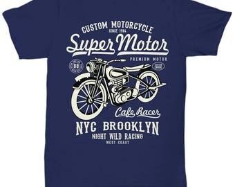 Super Motor NYC Brooklyn Cafe Racer T-shirt