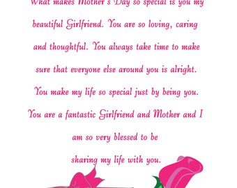 Girlfriend Mothers Day Card 2