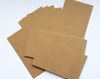 10x Kraft paper Cards 9 x 5.3 cm