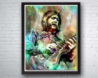 Allman Brothers, Duane Allman, Country Wall Art, Southern Rock, Jam Band, The Allman Brothers Band, Country Music Art, Gregg Allman, Ramblin