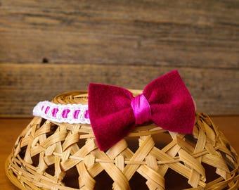Baby Headband, Baby Bow, Handmade Baby Bow, Crochet Headband, Baby Hair Accessory