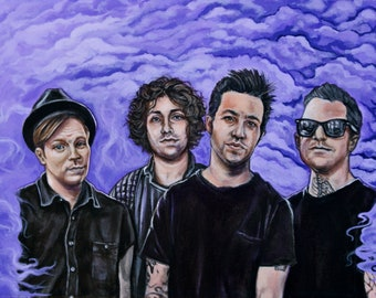 Fall Out Boy Portrait Fine Art Print