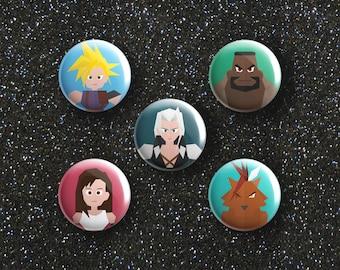 Final Fantasy 7 Button Badge Set