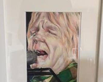 Signed Mike Peters A5 print unframed